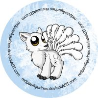 Arctic Peafox Badge by RedPawDesigns