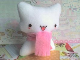 cute kitty plushie by VioletLunchell