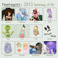 2013 Art Summary by Timefang143