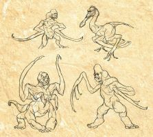 Mantis Ape Studies by thomastapir