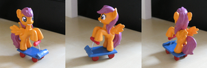 Scootaloo on a Scooter by Amandkyo-Su