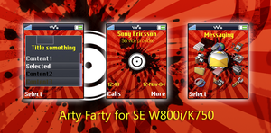 Arty Farty for W800 and K750 by j-kei