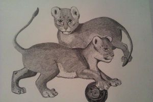 Lion Cubs by LoveDot