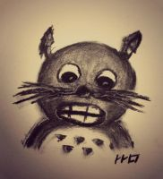 The Little Totoro - Charcoal by LucaHennig