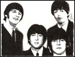 The Beatles - ink by breadzilla