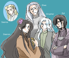 Elwe with his people by h-muroto