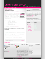 'Nymphont Style' Blogger XML by nymphont