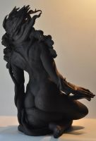 'still here' back view by JulieSwanSculpture