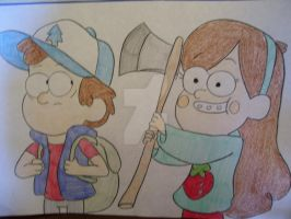 Dipper and Mabel by AJLeefan4life