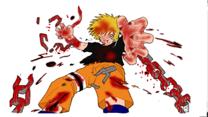 Naruto breaking free lineart colored by hynoryuu