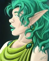 Moon Eyed Elf by TheEvilNae
