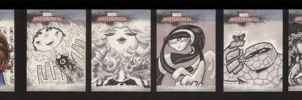 Marvel Sketch Cards Set 4 of 5 by soliton