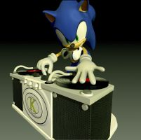 Sonic the HedgeHog DJ 3D (For DJ-Kanjo) by Vidal-Design