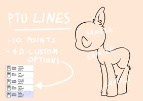 PTU Lineart Base 4 - 10 Point Pone by Opossum-Art