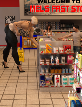 Sonya and Greg at the Corner Store by ReddofNonnac
