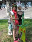 Battle bunny Riven and Teemo by Pastilli3