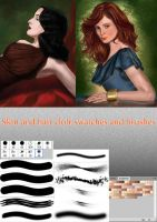 Skin-n-hairs brushes and swatches by Sulraen