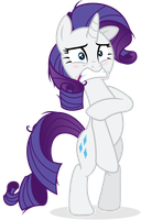 Embarrassed Rarity au Naturale by Yanoda
