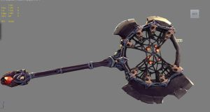 Darksiders 2 weapon contest polycount by zelldweller