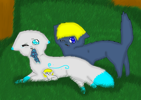 Mckenzie and Blueheart's pups by breebree223