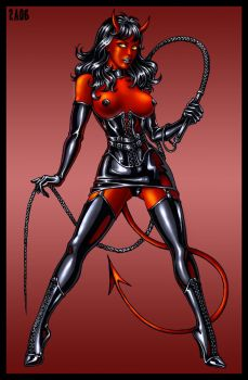 Devil girl color by Candra