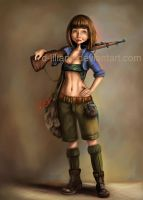The bunny huntress by d-liliane
