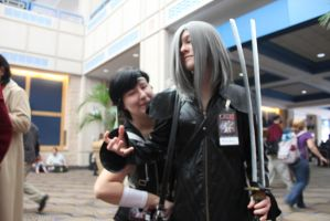 Yuffie + Kadaj - Metrocon 2011 by KittenKreationsTampa