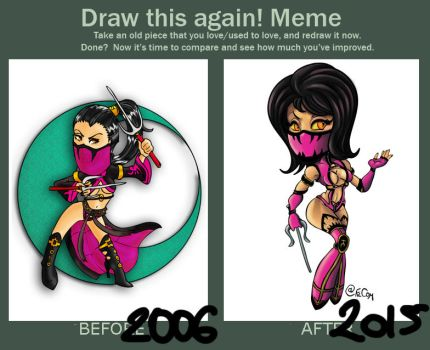 Draw This Again Meme - Mileena by FilXVII