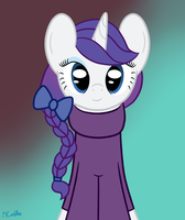 Rarity in a hair bow and sweater by mtfc1029