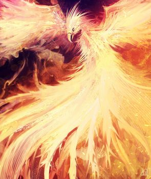 daily speedpaint 170 - Phoenix fire by iDaisan
