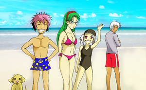 Practice Anime Beach Scene by Cbisho01