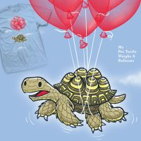 My Pet Turtle and 6 Balloons by InfinityWave