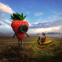 Strawberry robot by StevneKin