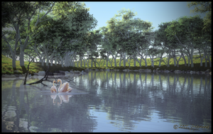 Tree Lined River by jbjdesigns
