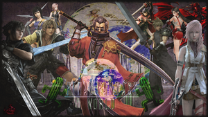 Final Fantasy World Collage by RogueVincent