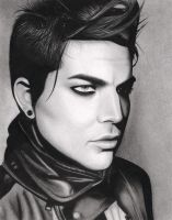 Adam Lambert VMAN Drawing by santabillie