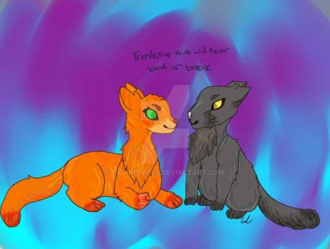 Firestar and Graystripe by midnight-ruby17