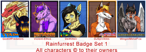 [Rainfurrest Badges] - Set 1 by Linkaton
