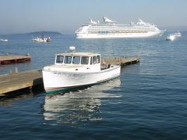 Bar Harbor with Explorer of the Seas in port by davincipoppalag