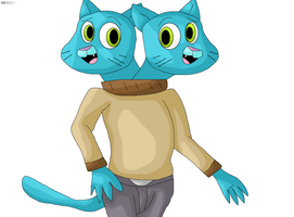 two-headed Gumball Watterson by Mojo1985
