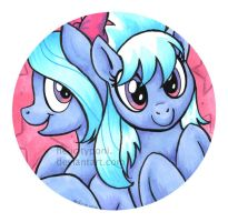 Cloudchaser and Little Flitter by HelicityPoni
