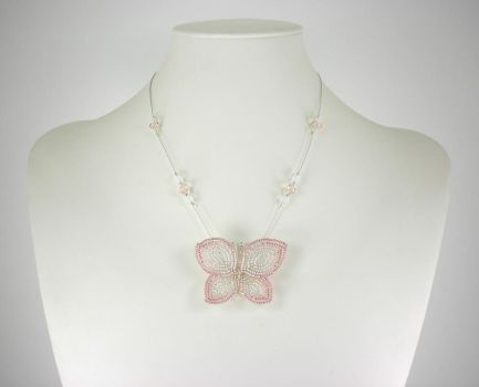 Delicate Butterfly Necklace by Lady-Blue