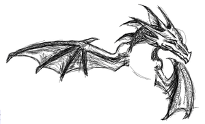 PChat Random Dragon Sketch by Flash--the--Hedgehog