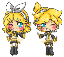 Chibi - Vocaloid RIN+LEN by Kita-Angel