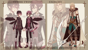 [CLOSED] adopt Tenshi Twins + Exorcist by Aritsune-chan
