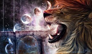 Illustration: Lion by WolfRoad