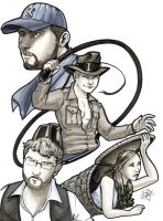 Indy and friends commission by ComfortLove