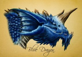 Blue Dragon by Hyena-De-Peluche