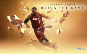 Lebron James Bring The Game Wallpaper by tmaclabi