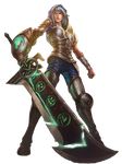 LoL Redeemed Riven Render by CptCocoPuffs